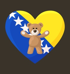 Bosnian and Herzegovinian Teddy Bears vector image