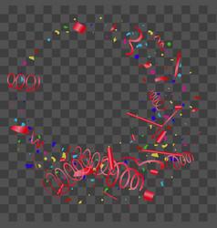 bright colorful sparkly confetti vector image
