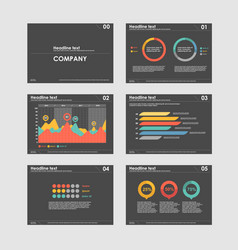 Business presentation templates with infographic vector