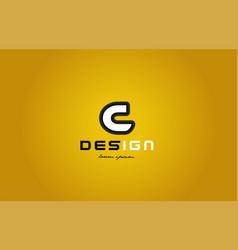 C alphabet letter white on yellow background vector