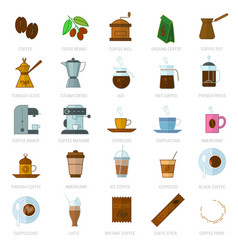 coffe icon set vector image