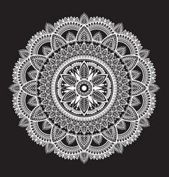 colorful rainbow ethnic mandala on white vector image