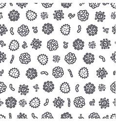 coronavirus seamless pattern vector image