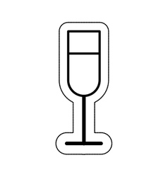 cup drink party isolated icon vector image