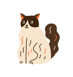 cute cat sitting funny curious kitty adorable vector image