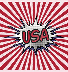Declaration of usa pop art comic speech bubble usa vector