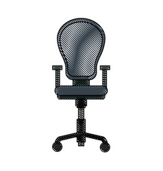 drawing armchair office equipment seat vector image