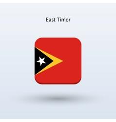 East timor flag icon vector