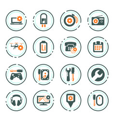 Electronic repair icons set vector