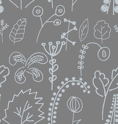 Fantastic plants seamless pattern vector