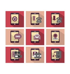 Flat Icon Design Phone vector image
