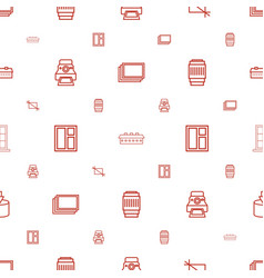 frame icons pattern seamless white background vector image
