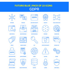 Gdpr icons - futuro blue 25 icon pack vector