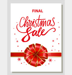 gift card final xmas sale winter flyer vector image