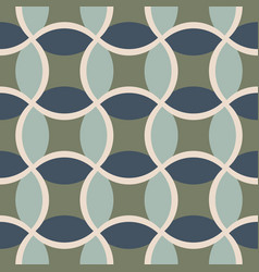 Green and gray geometric tile with curvy shapes vector