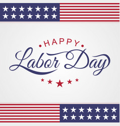 Happy labor day emblem letter vector