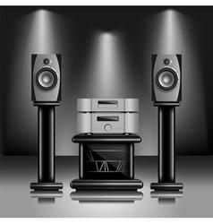 Hi-Fi audio sound system vector image