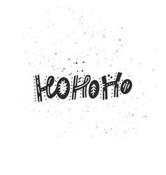 Hohoho christmas lettering vector