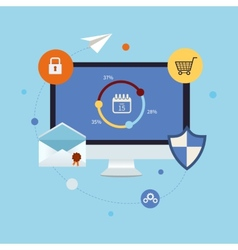 Icons for online shopping vector