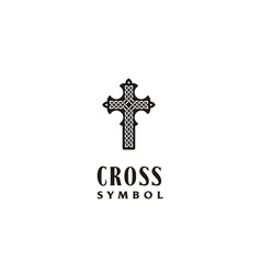 jesus cross celtic catholic christian church logo vector image