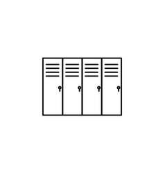 Lockers icon vector