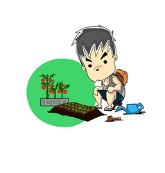 man harvest vector image vector image