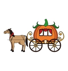 medieval carriage icon vector image