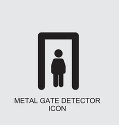 Metal gate detector icon vector