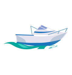 motorboat ship on the water vector image