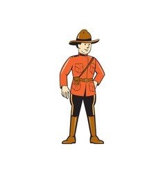 Mounted Police Officer Standing Front vector image
