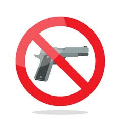 No gun symbol vector