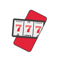 Online casino smartphone vector
