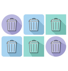 outlined icon of refuse bin with parallel and not vector image
