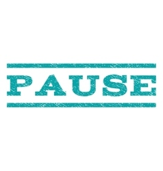 Pause watermark stamp vector