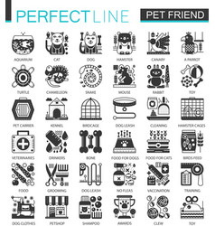 pets friends classic black mini concept symbols vector image