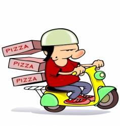 Pizza delivery boy vector