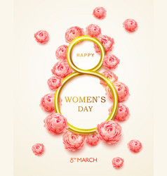 postcard on 8 march international womens day vector image