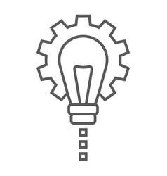 Product development thin line icon development vector