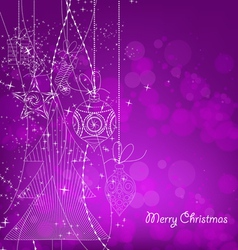 Purple Christmas Background With Christmas vector