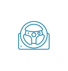 Racing wheel linear icon concept racing wheel vector