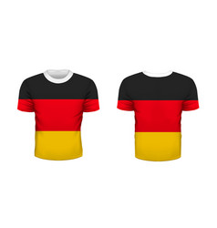 realistic sport t-shirt with germany flag from vector image