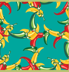red hot pepper seamless texture pattern vector image