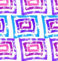 Rough brush blue and purple squares vector image