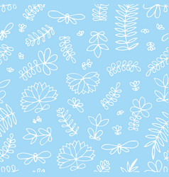 Seamless pattern with small stylized flowers on a vector