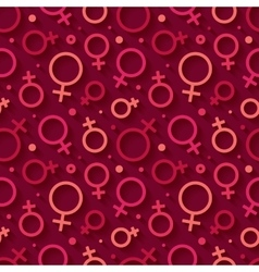 Seamless pattern with the female gender symbol vector image
