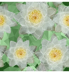 Seamless Water Lilies Background vector