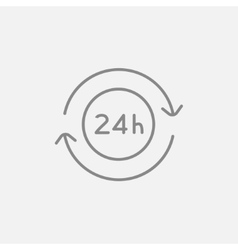 Service 24 hrs line icon vector image