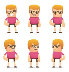 set of dude character in different poses vector image