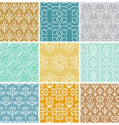 set of linear simple patterns vector image