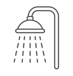 Shower thin line icon real estate and home vector